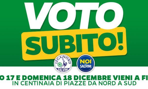 #VOTOSUBITO LA LEGA NORD SI MOBILITA IN MILLE PIAZZE !!!